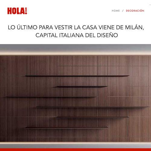 HOLA Junio 2019: Lo último para vestir la casa viene de Milán