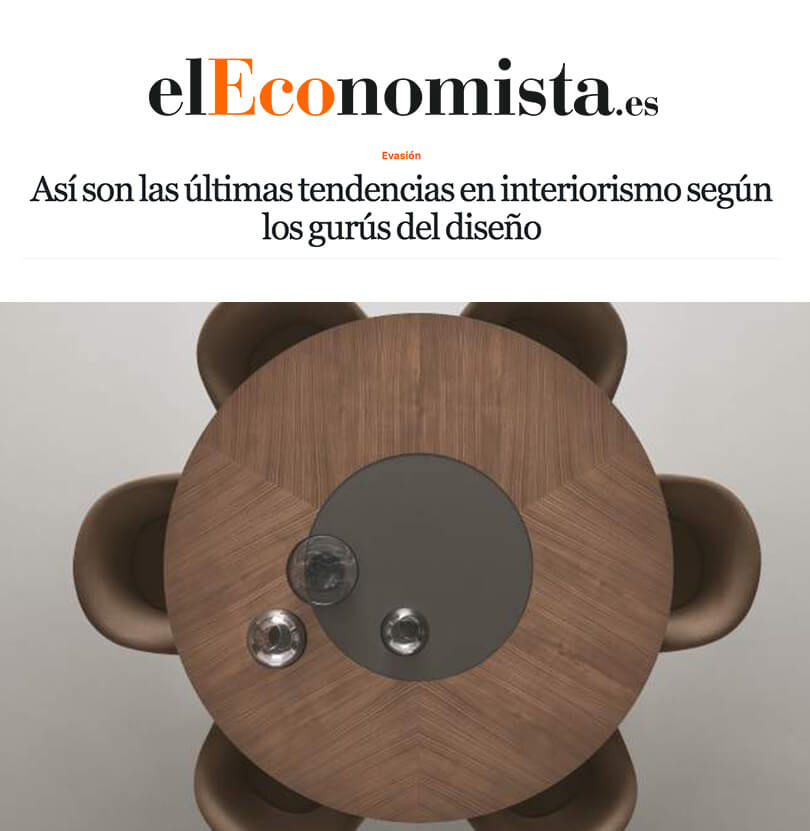 Las ultimas tendencias en interiorismo tras el Salone del Mobile de Milano en El Economista (ABRIL 2019)