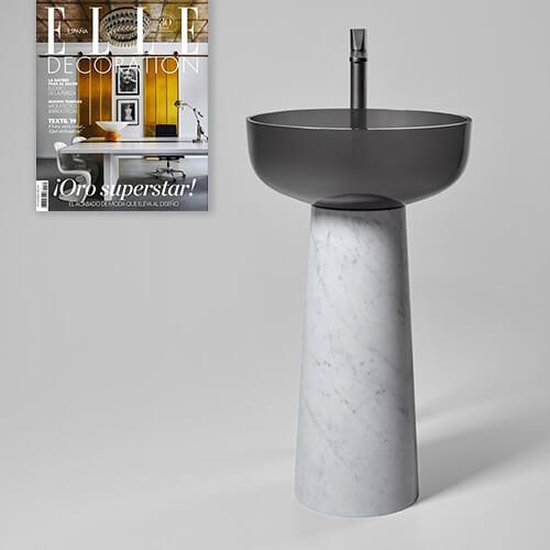 El lavabo de pie ALBUME de Antonio Lupi en Elle DECO (MARZO 2019)