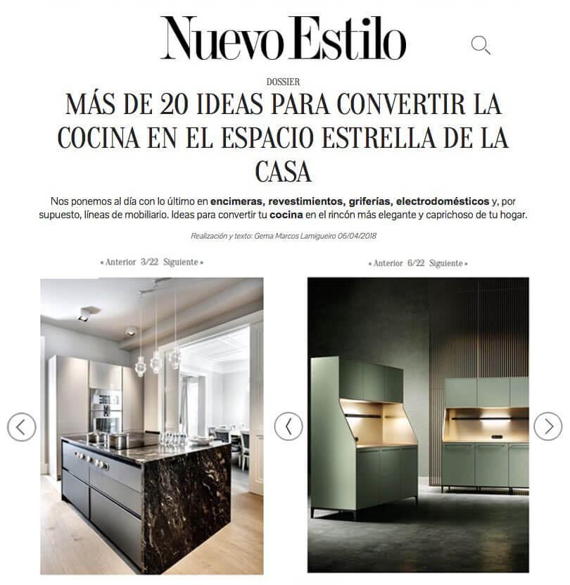 Cocinas SieMatic que marcan tendencia en Nuevo Estilo (ABRIL 2018)