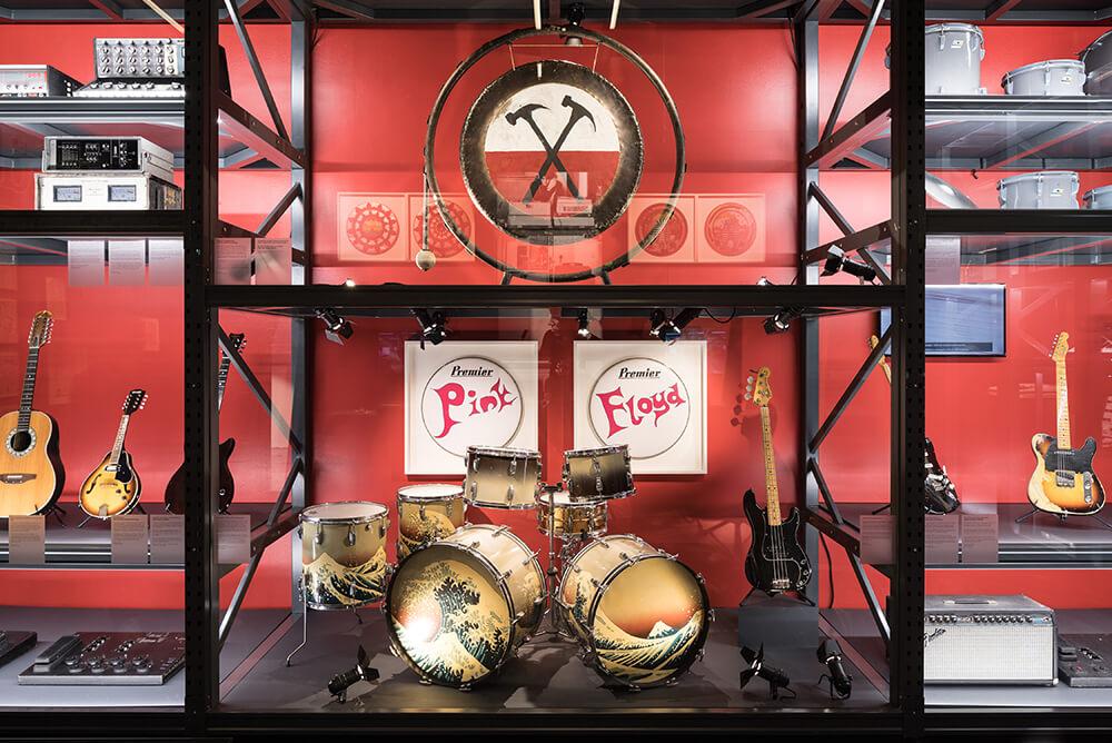 Pink floyd exhibition en Madrid Ifema, objetos míticos de la banda