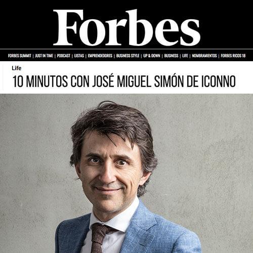 José Miguel Simón desvela las claves del éxito de ICONNO Estudio-Showroom en Forbes (JUNIO 2019)