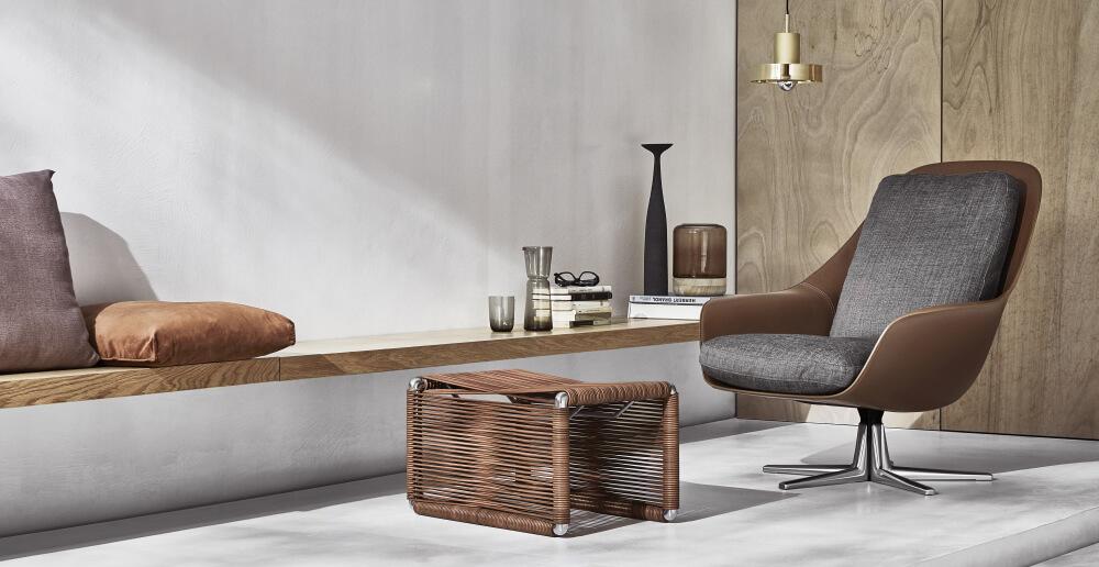 Silla Sveva flexform novedad de diseño de mobiliario con aire retro