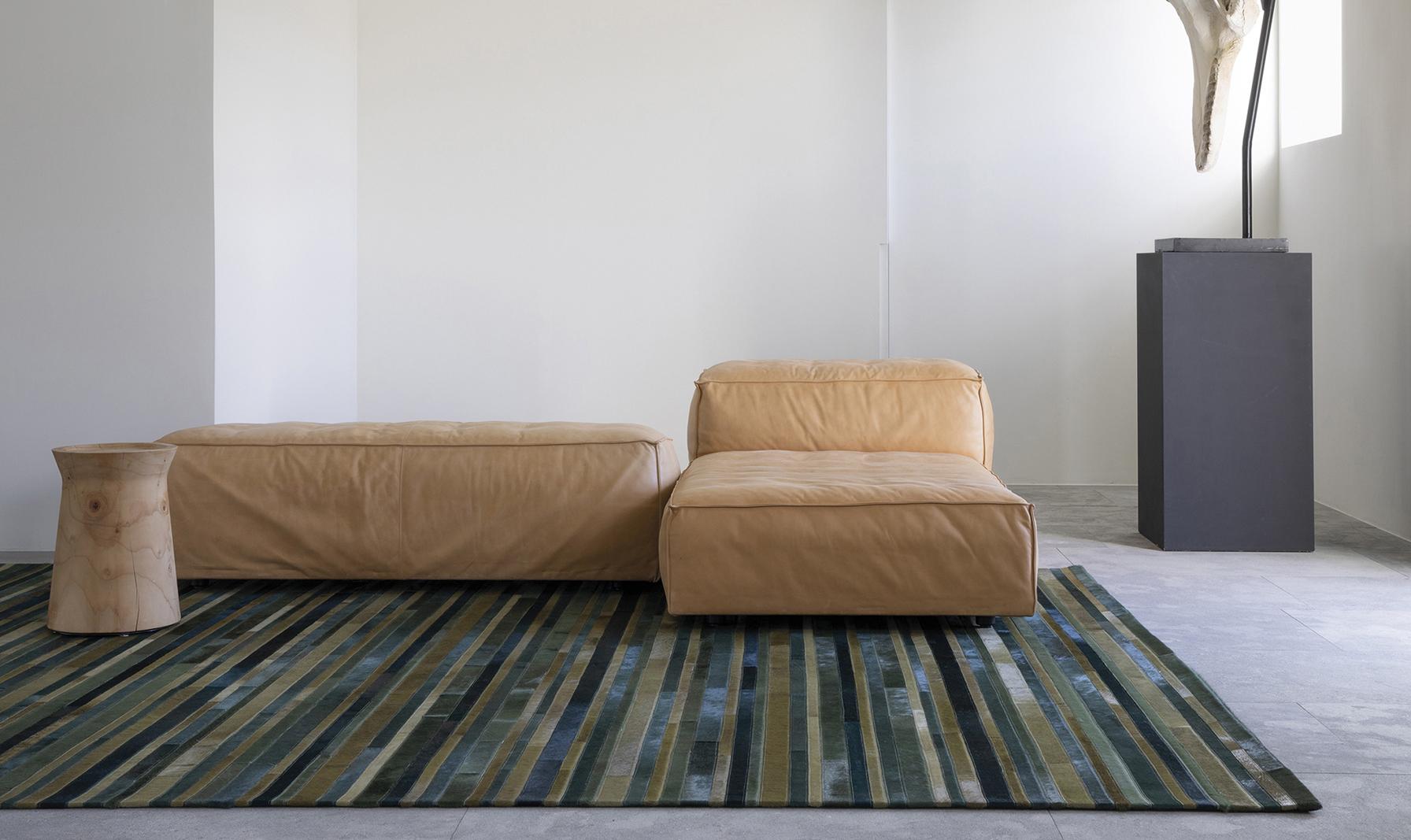 alfombra hecha a mano de lujo evergreen flash