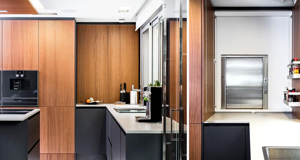 detalle cocina elevador proyecto interiorismo iconno