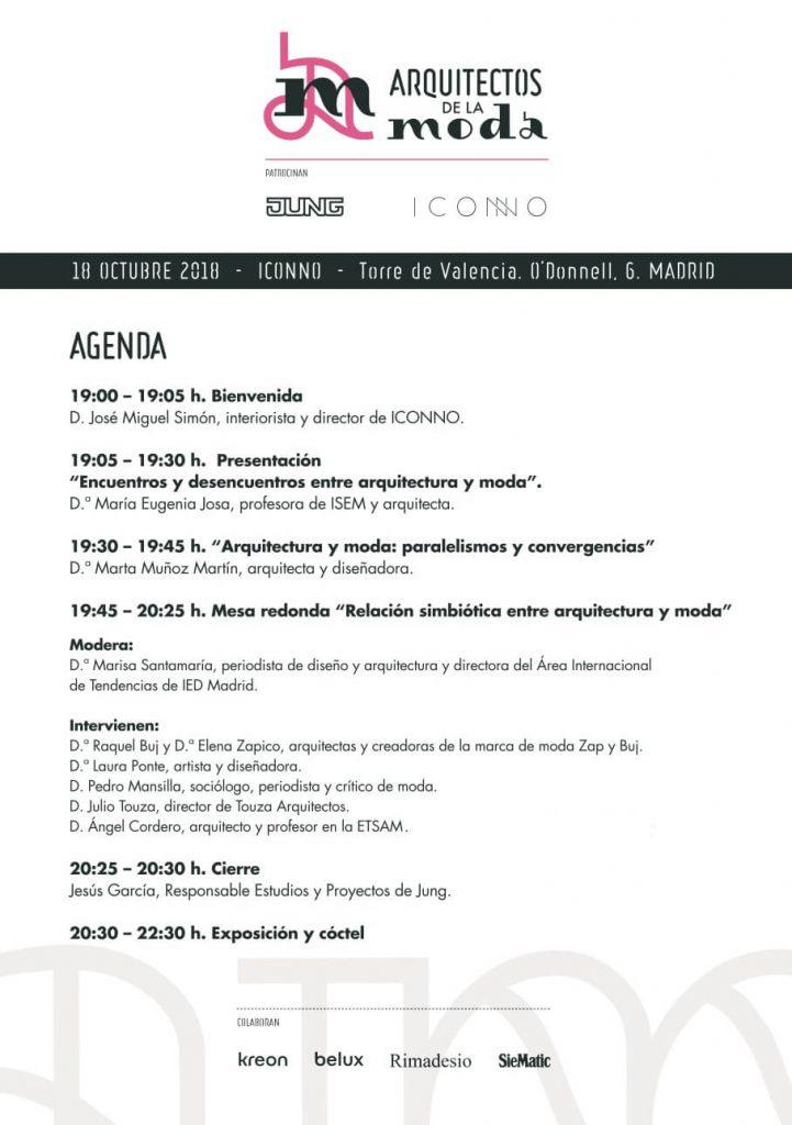 programa evento arquitectos de la moda