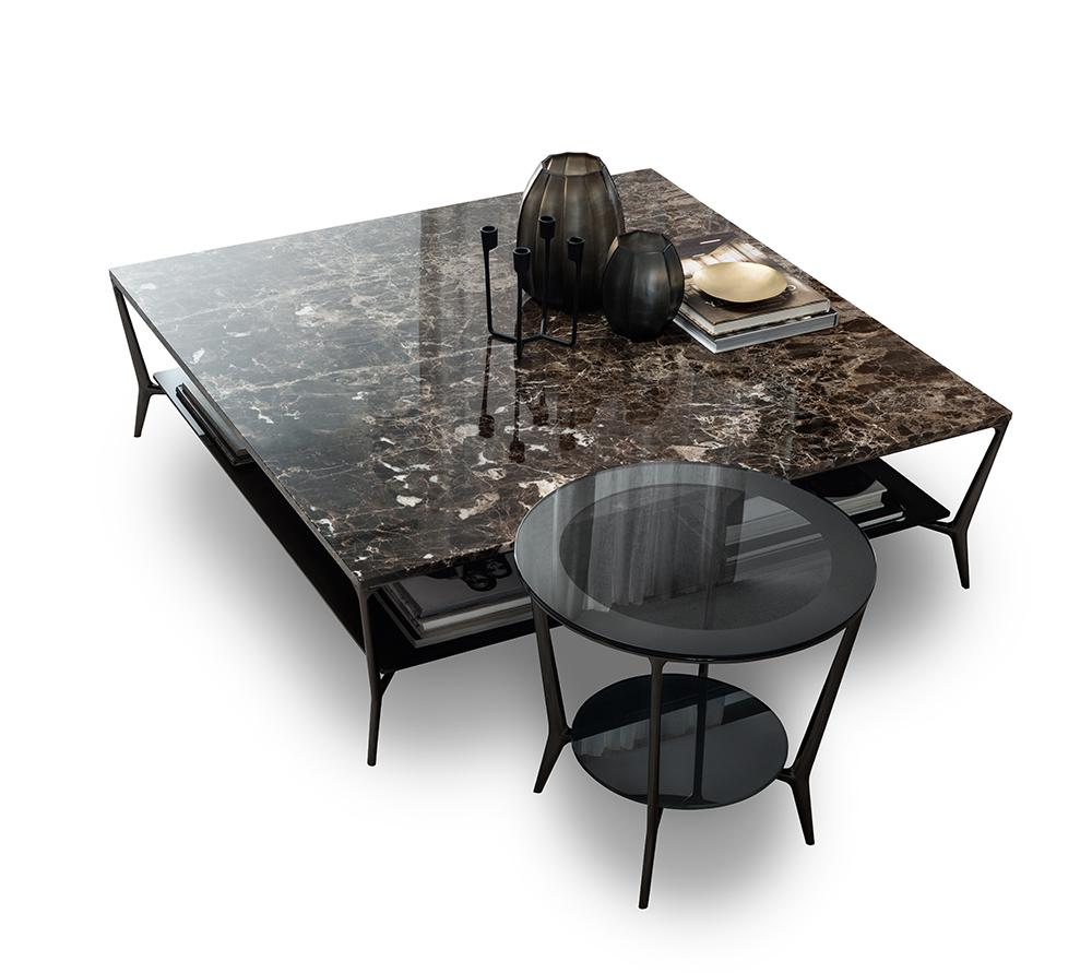 Rimadesio mesa de centro de nueva tendencia de piedra Planet cuadrada