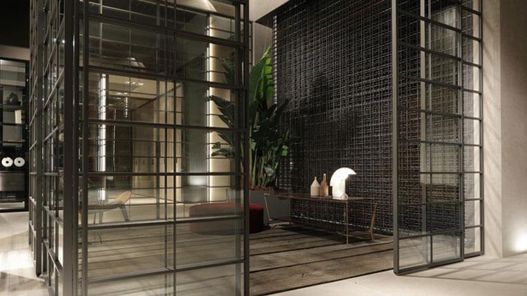 Rimadesio Spazio sistemas de paredes de vidrio que crean espacios diferentes