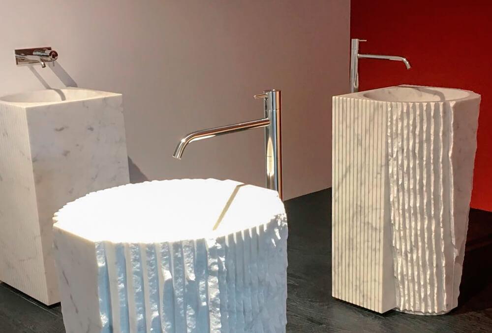 acabados orgánicos del lavabo introverso Antonio Lupi