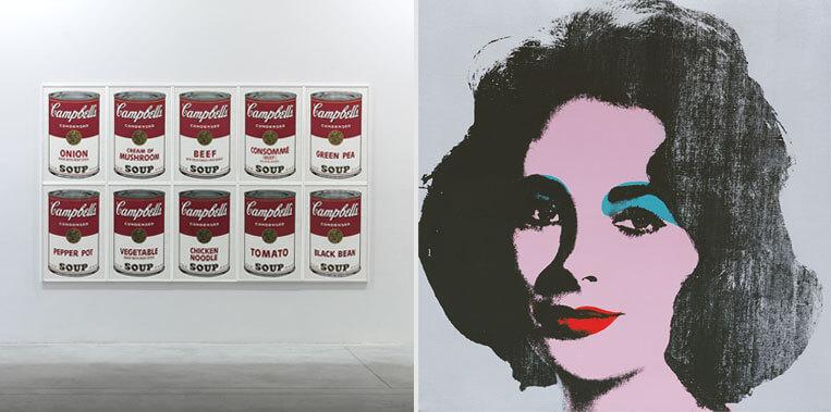 Warhol, arte mecánico: Obras míticas Latas de sopa campbells y retratos