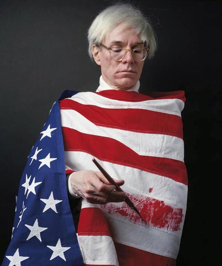 Warhol retratado por Alberto Schommer