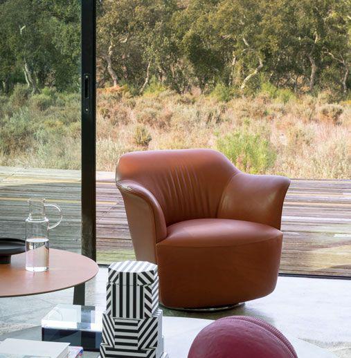 sillón de diseño Aida de Poltrona Frau