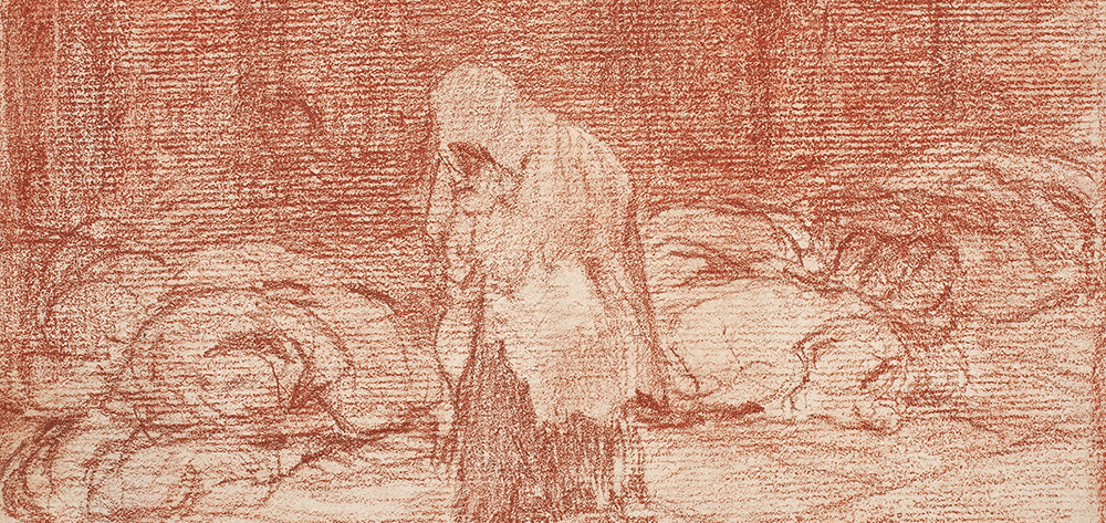Goya, exposición de Dibujos en el museo del prado - Sanguina