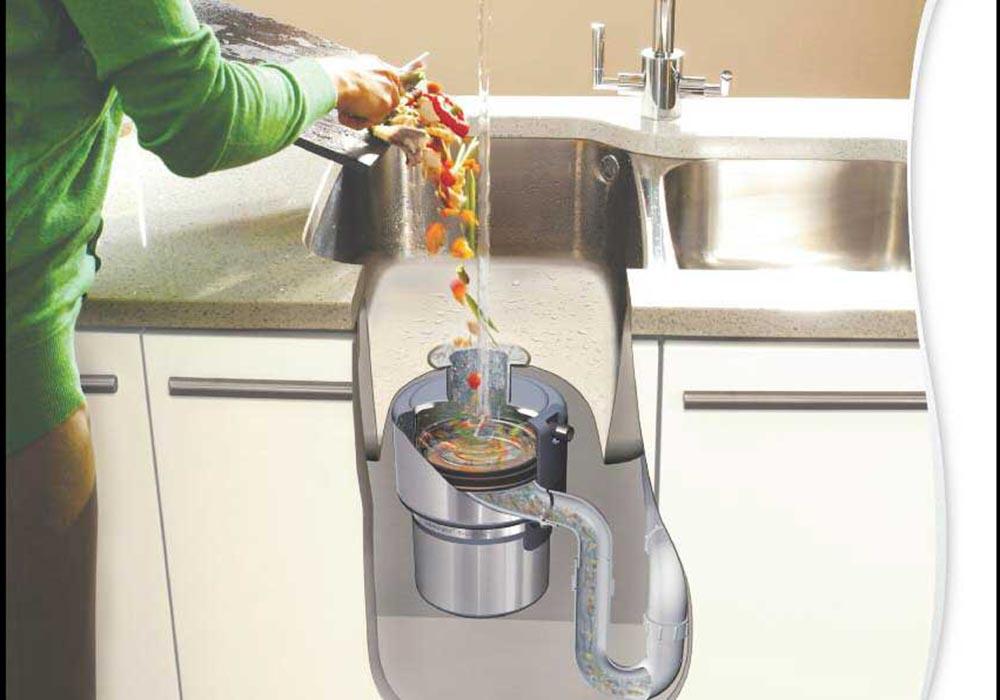in sink erator triturador restos comida fregadero