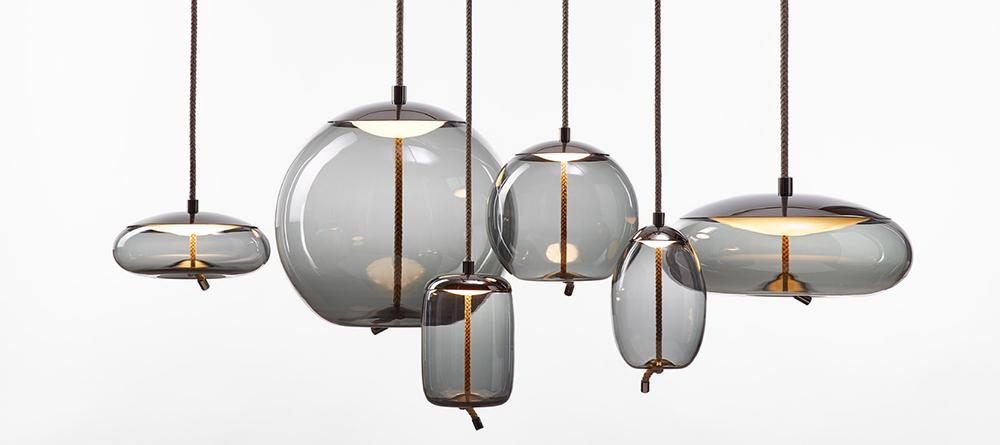 lámpara de cristal Knot de Brokis