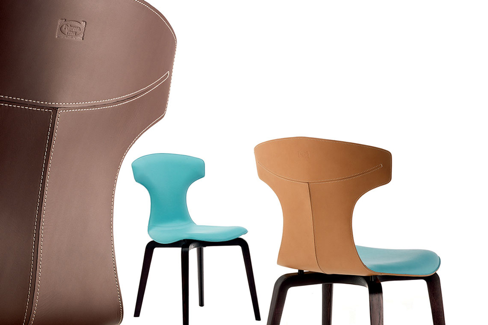 Sillas de diseño Poltrona Frau modelo Montera