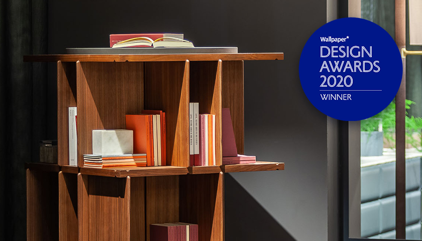 Poltrona Frau, La estanteria Turner ganadora del Design Awards 2020 otorgado por Wallpaper*