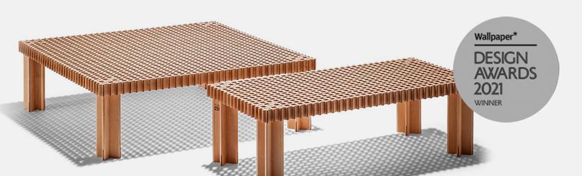 Poltrona Frau mesa auxiliar Kyoto Wallpaper Design Award 2021