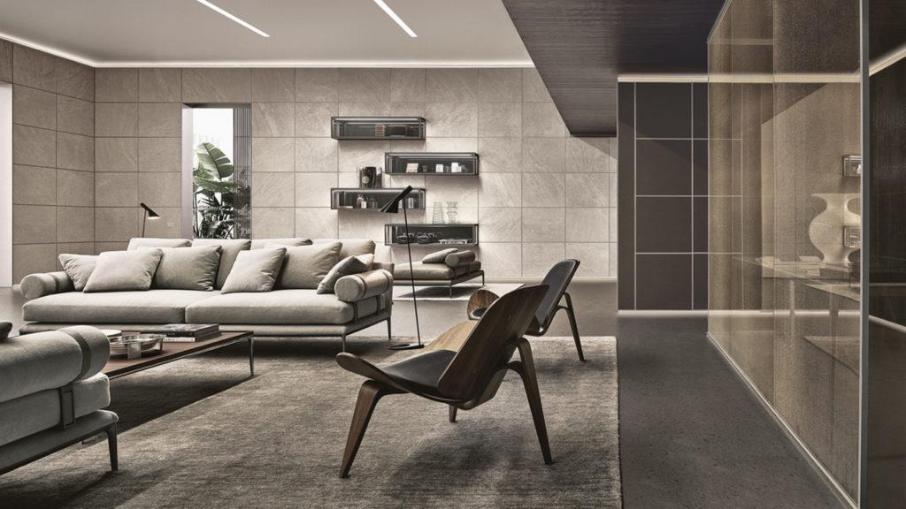 Mobiliario de diseño italiano Rimadesio para zona día