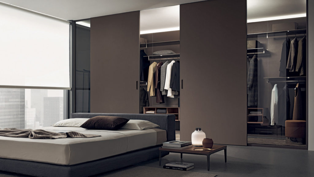 Mobiliario de diseño italiano Rimadesio para zona noche