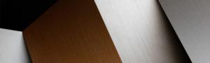 metal cepillado : 205 piombo graffiato, 204 rame graffiato, 206 bronzo graffiato, 207 platino graffiato