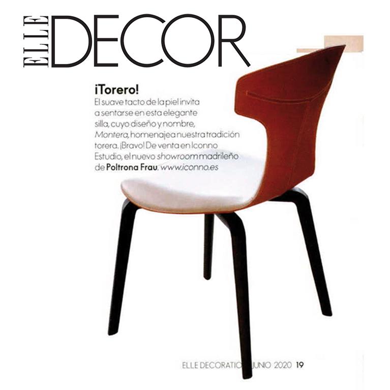 La silla Montera de POLTRONA FRAU en la revista ELLE DECOR Junio