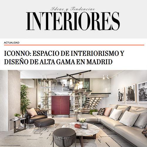 Nuevo espacio en ICONNO studio en Madrid Ideas y tendencias interiores Diciembre 2020