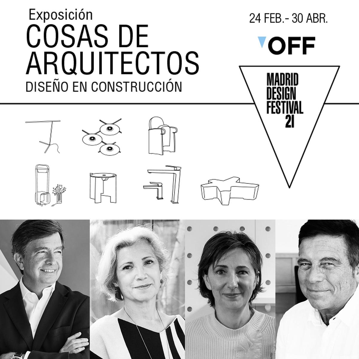 exposición Cosas de Arquitectos, diseño en construccion en ICONNO Jorge Juan Madrid MDF21