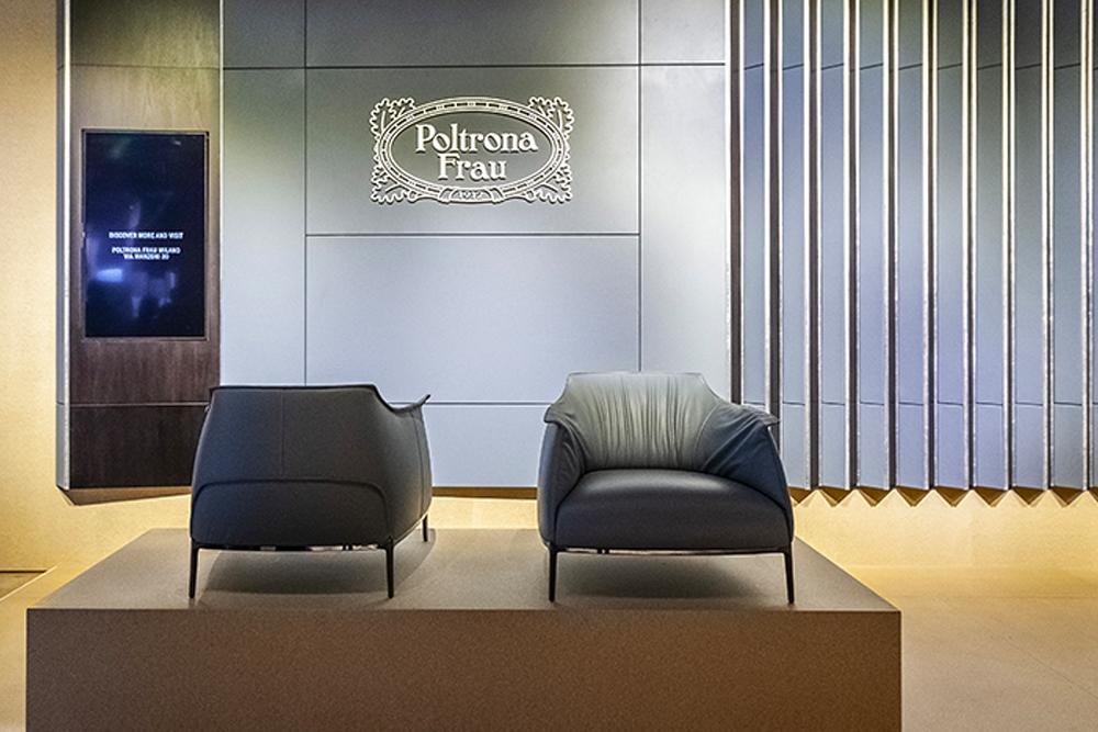 Poltrona Frau, sillón y sofá, Supersalone, Salone Mobile Milan