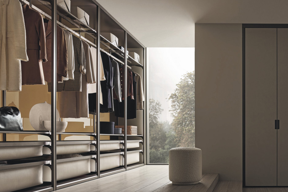 Rimadesio, Cover Open vestidores ICONNO, Milan Design Week