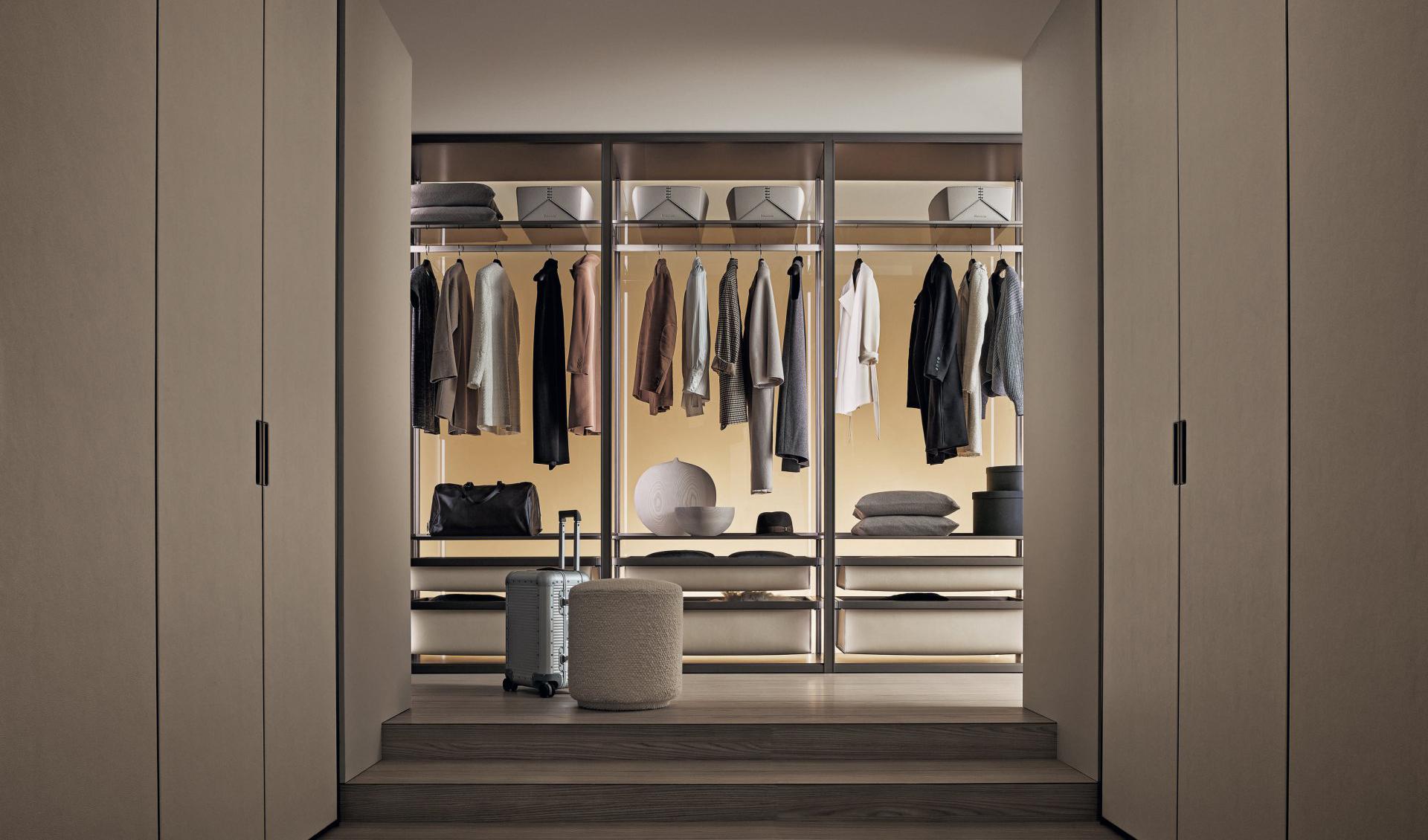 vestidor de diseño Rimadesio Cover open