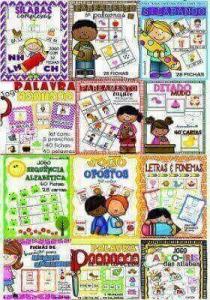 Pacotão 12 Jogos Pedagógicos Português | Atividades de Alfabetização e Letramento