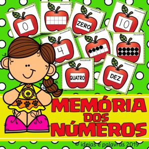 Jogo Memória dos números