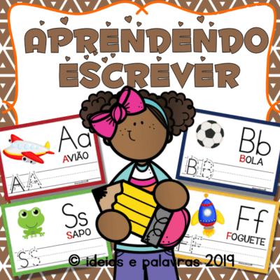 Aprendendo a Escrever | Jogo Pedagógico com 28 Cartas para Praticar a Escrita na Educação Infantil