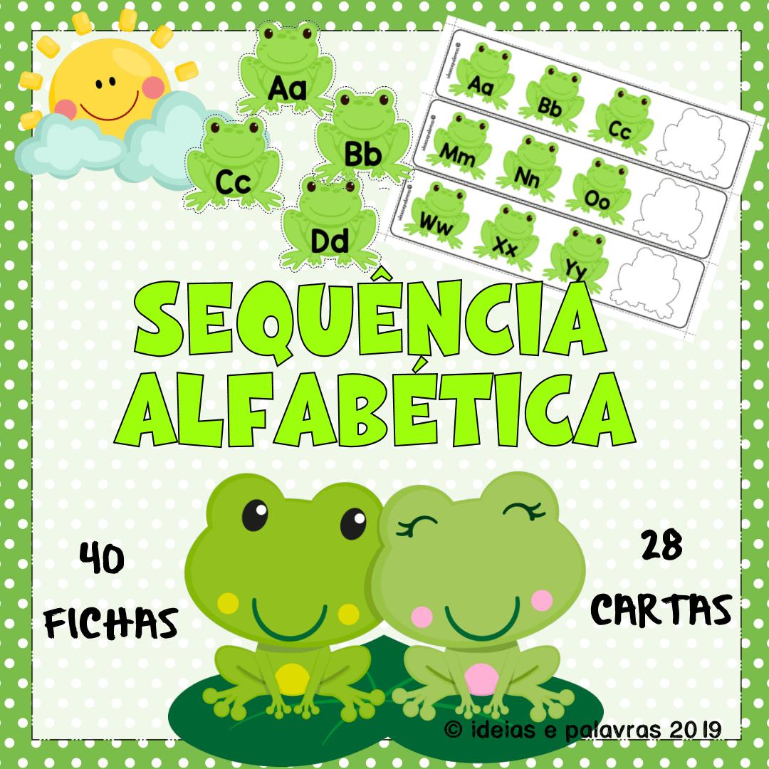 Atividade de Alfabetização jogo pedagógico ideiasepalavras.com.br