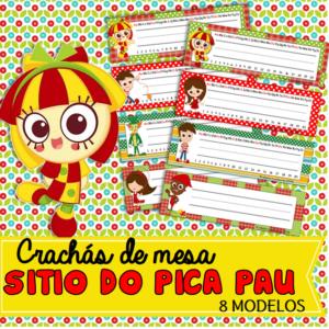 Crachás de Mesa Sitio do pica pau| Educação Infantil