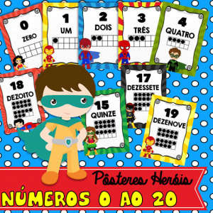 posteres Heróis Números 0 ao 20