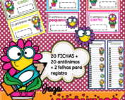 Antônimos Jogo Pedagógico | 20 Fichas, 20 Antônimos e 2 Folhas para registro