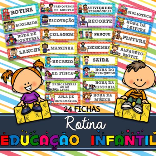 Rotina para educação infantil - www.ideiasepalavras.com.br