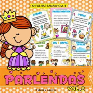 Jogo Pedagógico   Parlendas Ilustradas   Atividade de Alfabetização e Letramento   ideiasepalavras.com.br   62 986047350