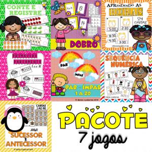 Pacote 7 Kits Matemáticos | Atividades de Alfabetização Matemática