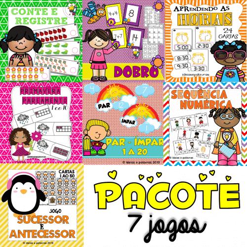 Pacote 7 Kits Matemáticos   Atividades de Alfabetização Matemática