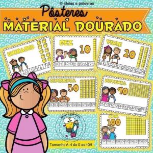 pôsteres material dourado | ideiasepalavras.com.br | atividade de alfabetização