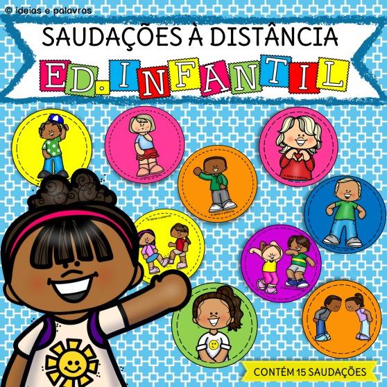 Saudações à distância Educação Infantil