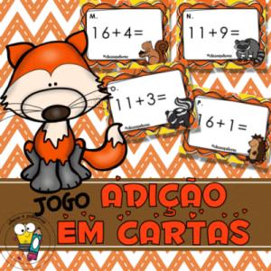 Jogo Pedagógico Adição em Cartas   Atividades de Alfabetização Matemática
