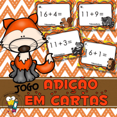 Jogo Pedagógico Adição em Cartas | Atividades de Alfabetização Matemática