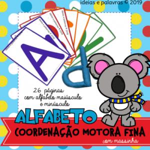 Alfabeto Coordenação Motora Fina   Atividade Lúdica Alfabetização