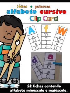 Kit de Leitura Alfabeto Cursivo   Atividade de Alfabetização