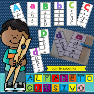 alfabeto cursivo -clip cards