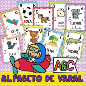 Pôsteres Alfabeto de Varal   Alfabetização e Letramento